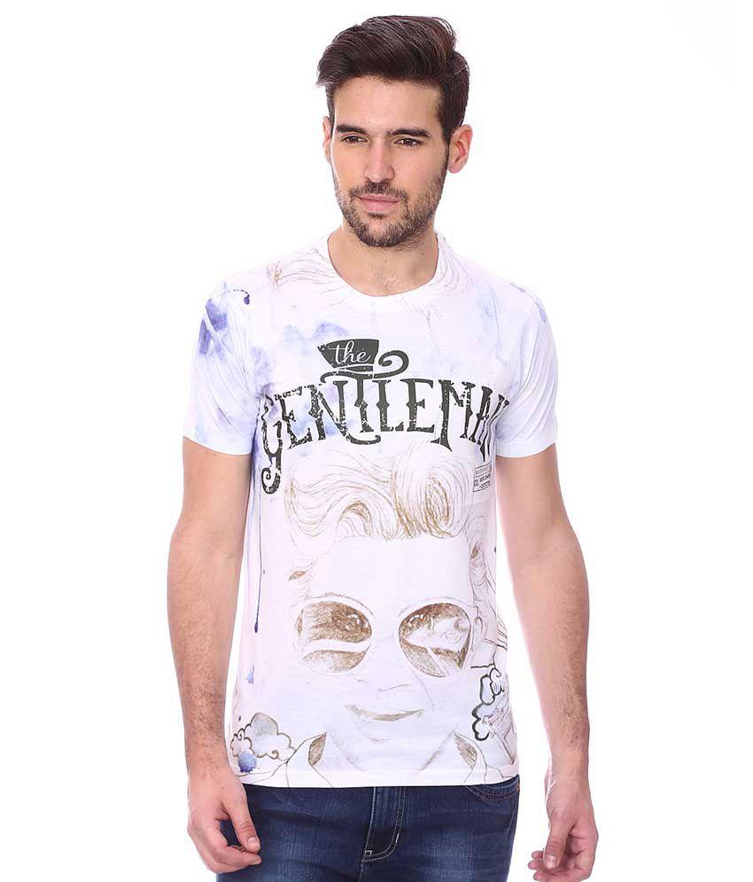 Maxzone White Round T Shirts