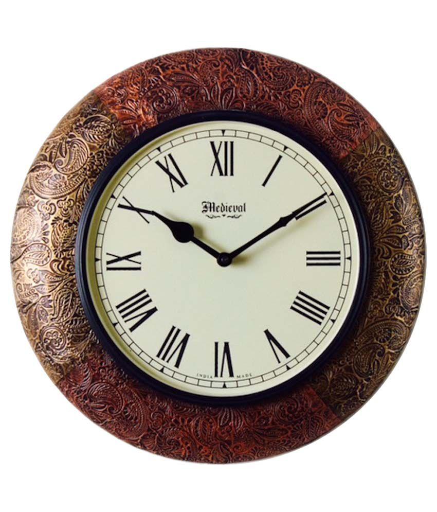 meval india wooden wall clock