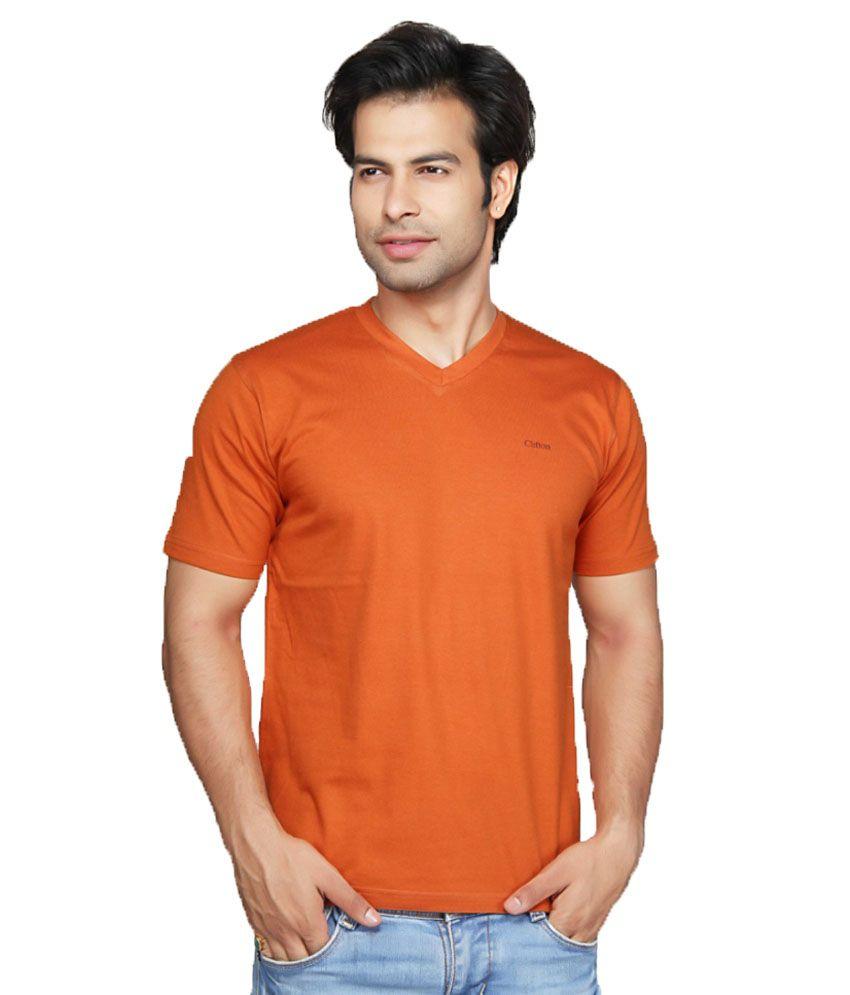 Clifton Fitness Men's V-Neck T-shirt -Rust