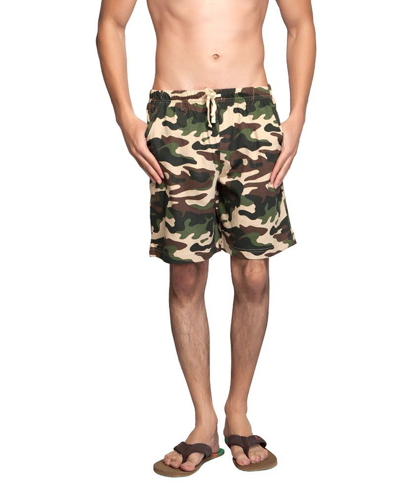 Clifton Fitness Men's Army Shorts -Saffari