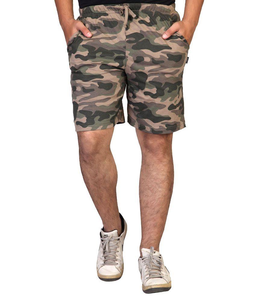 Clifton Fitness Men's Army Shorts -Walnut