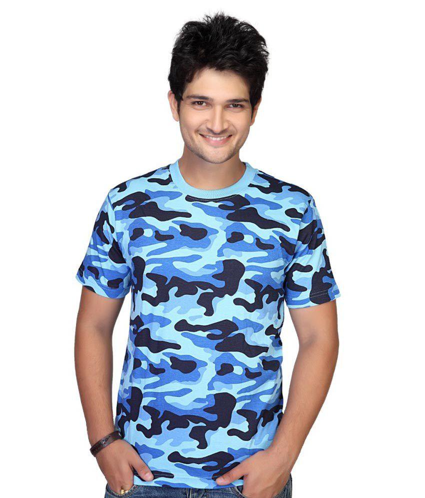 Clifton Fitness Men's Army T-shirt -Light Blue