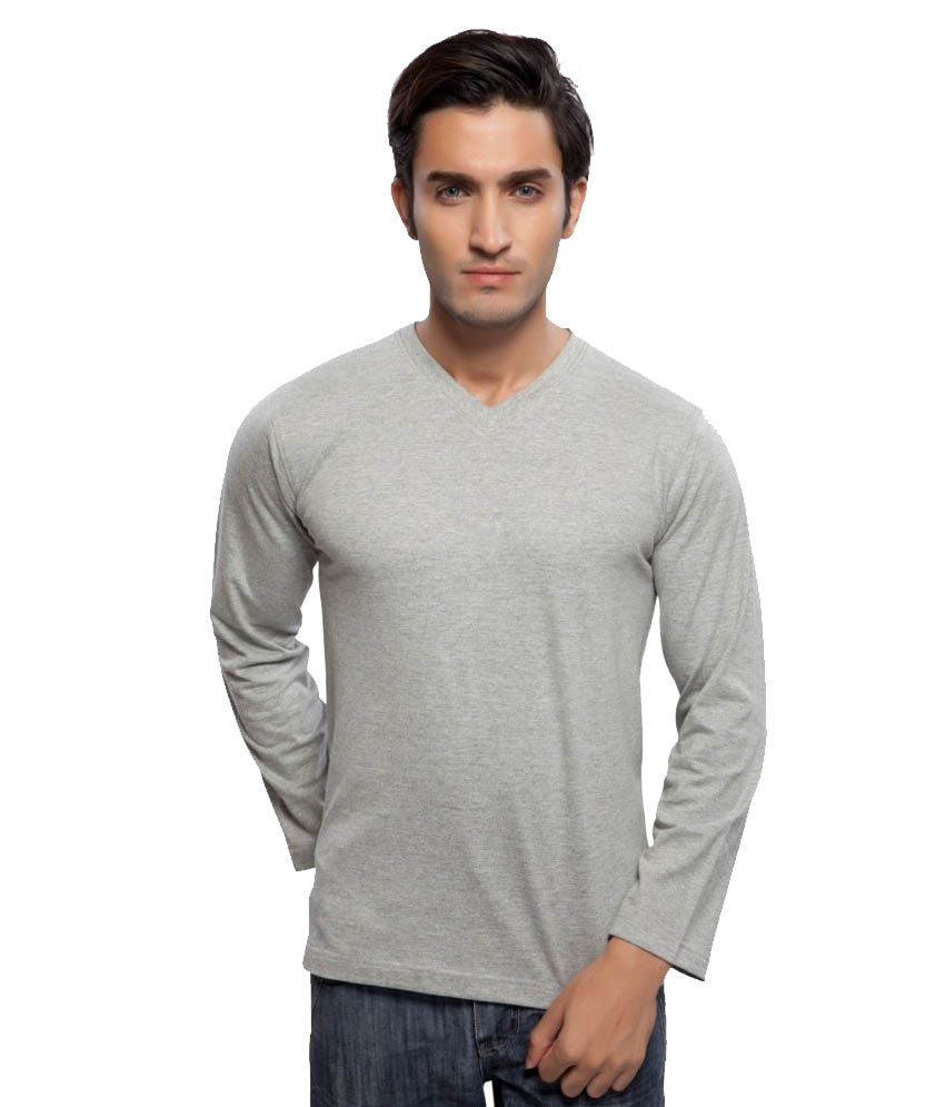 Clifton Fitness Men's Mustee Full Sleeve -Grey Melange