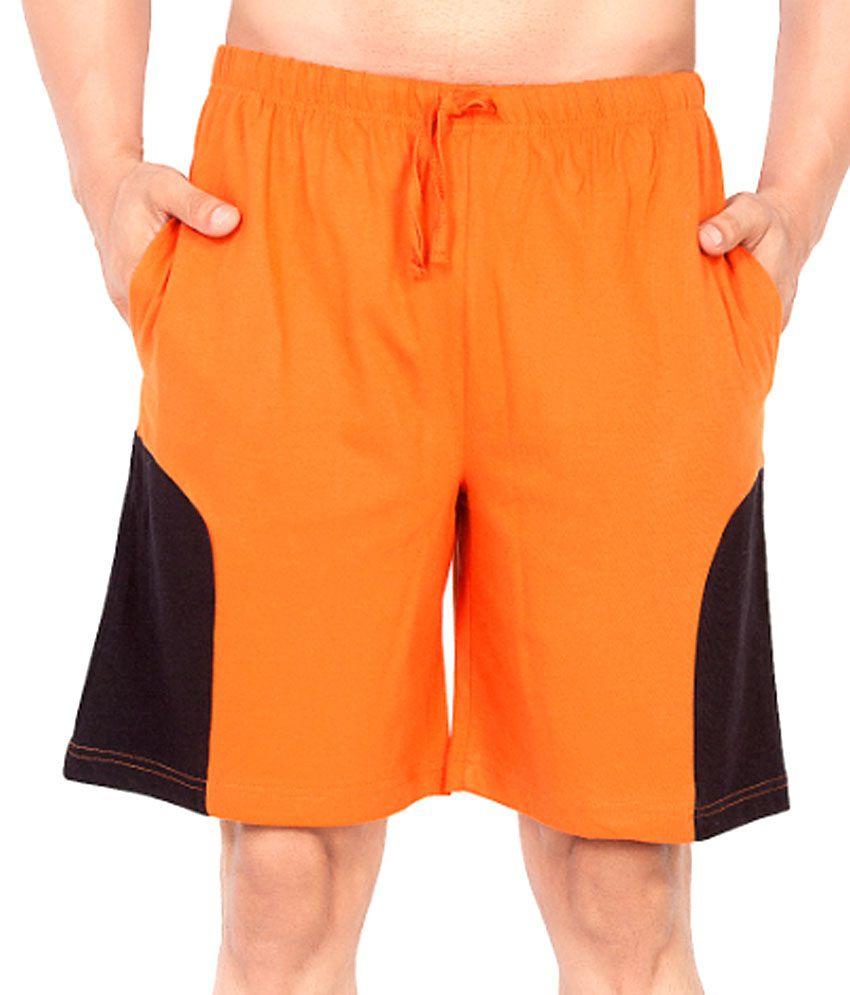 Clifton Fitness Men's Shorts -Rust/Black