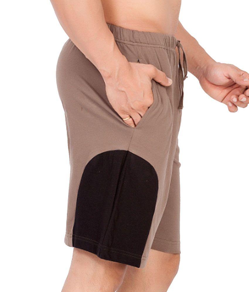 Clifton Fitness Men's Shorts -Walnut/Black