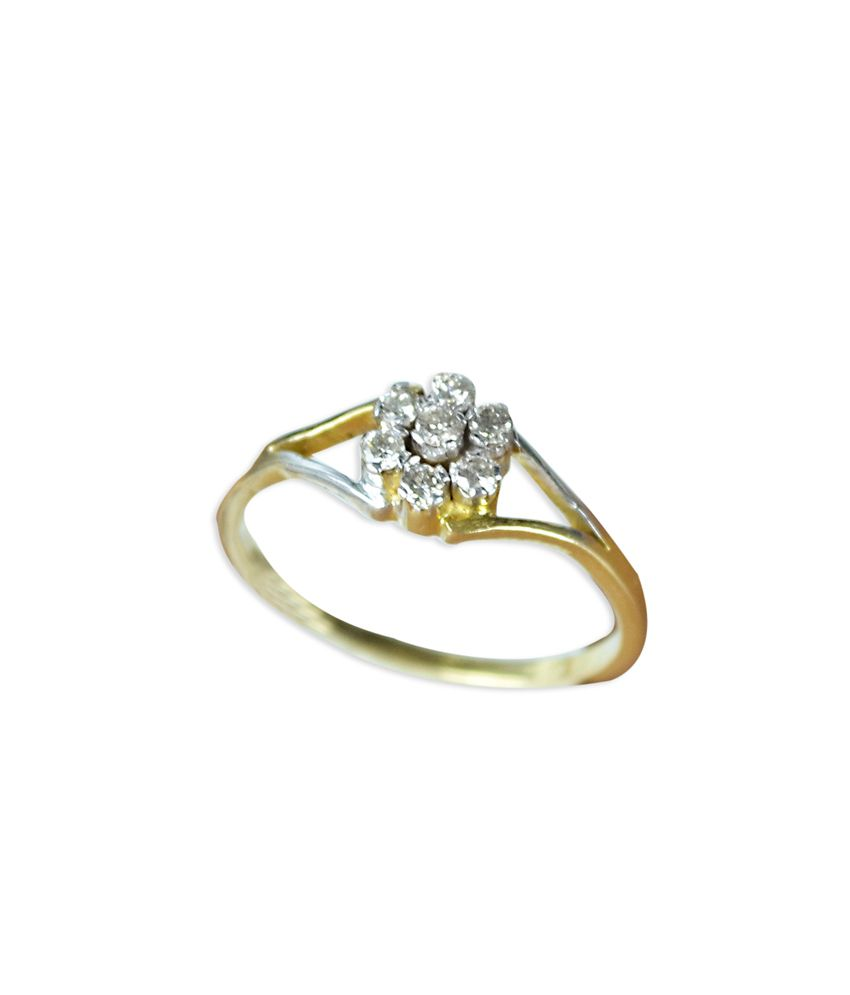 Kataria Jewellers 18kt Gold Diamond Ring