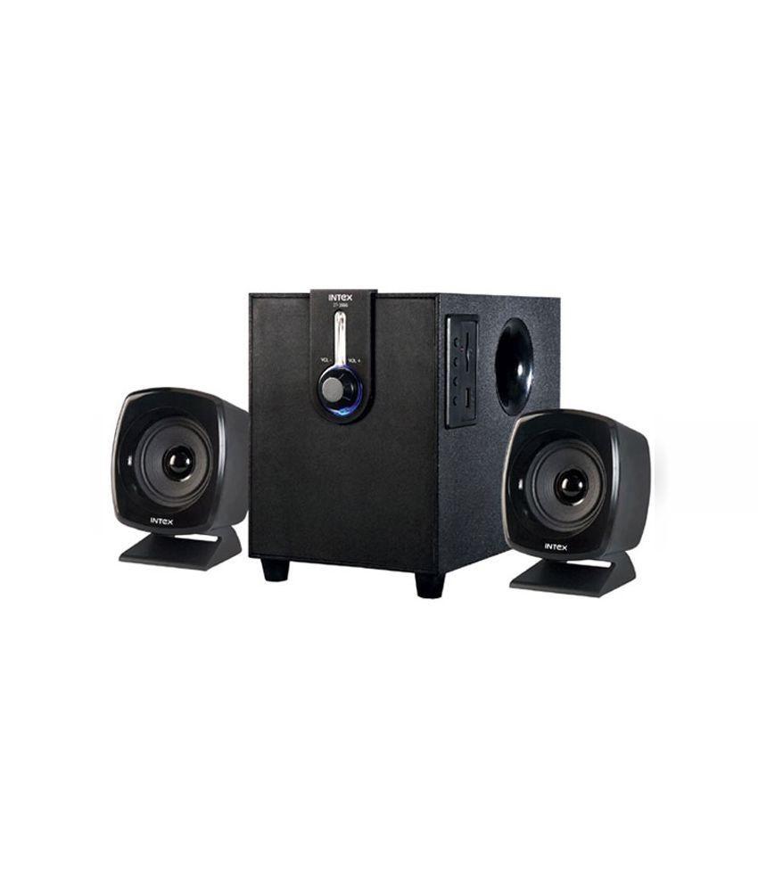 Intex IT-1666 2.1 Multimedia Speakers - Black