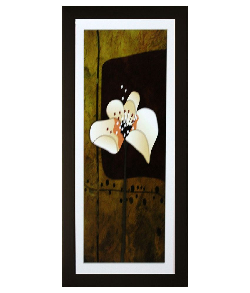 SAF Floral Painting with Wooden Frame