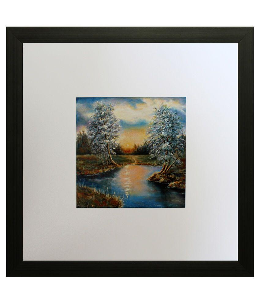 SAF Landscape Painting with Wooden Frame