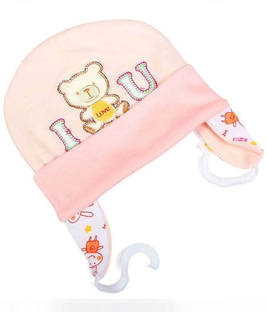4dd07fd7b Baby Bucket Peach Cotton Ear Covering Baby Cap
