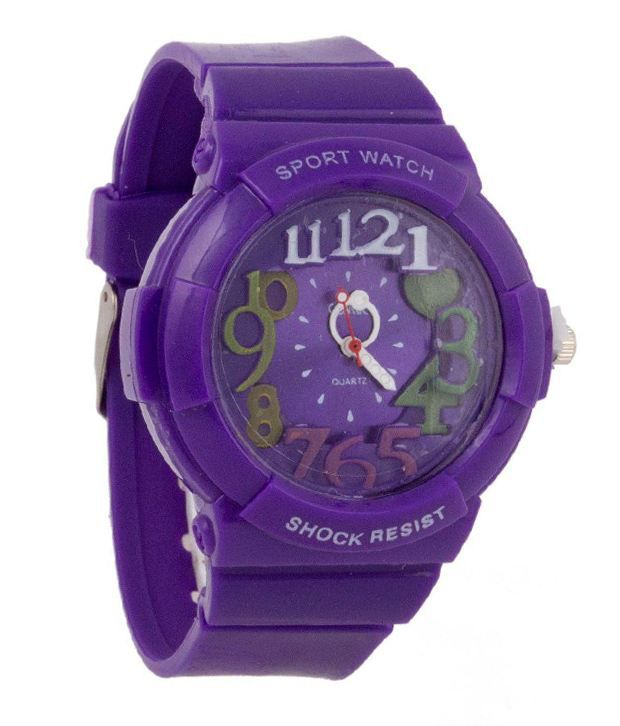 Cosmic Purple Analog Watch