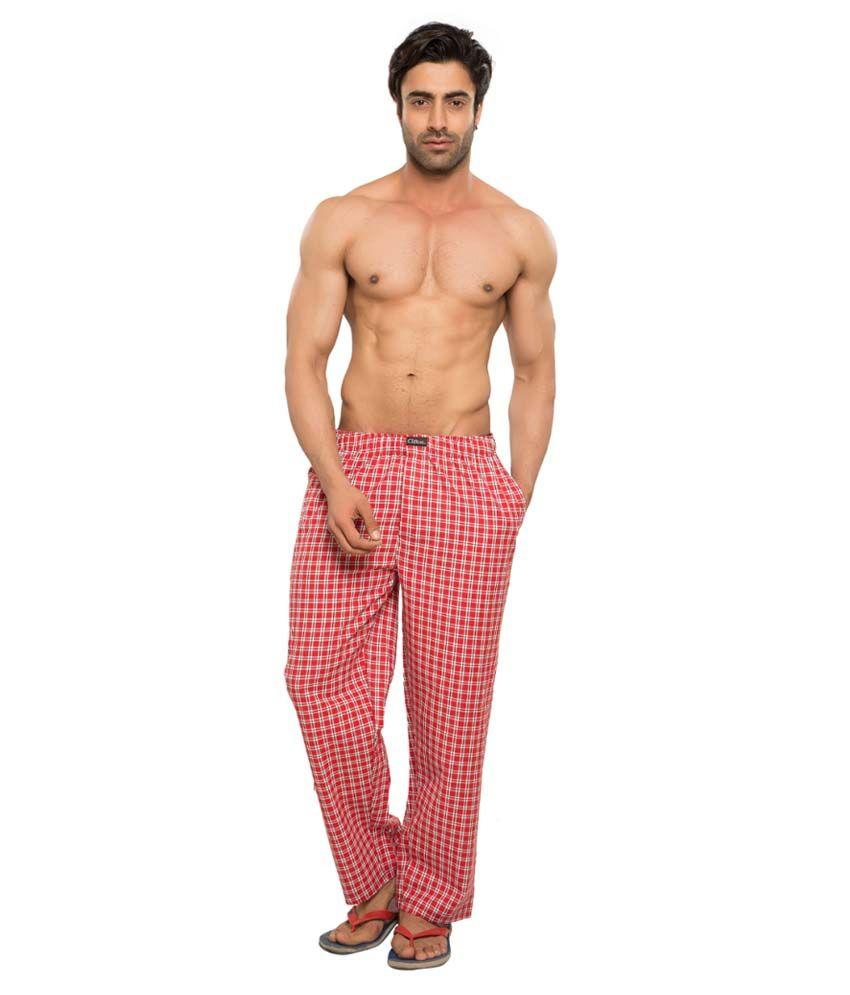 Clifton Men's Woven Pyjama -Red & White Checks
