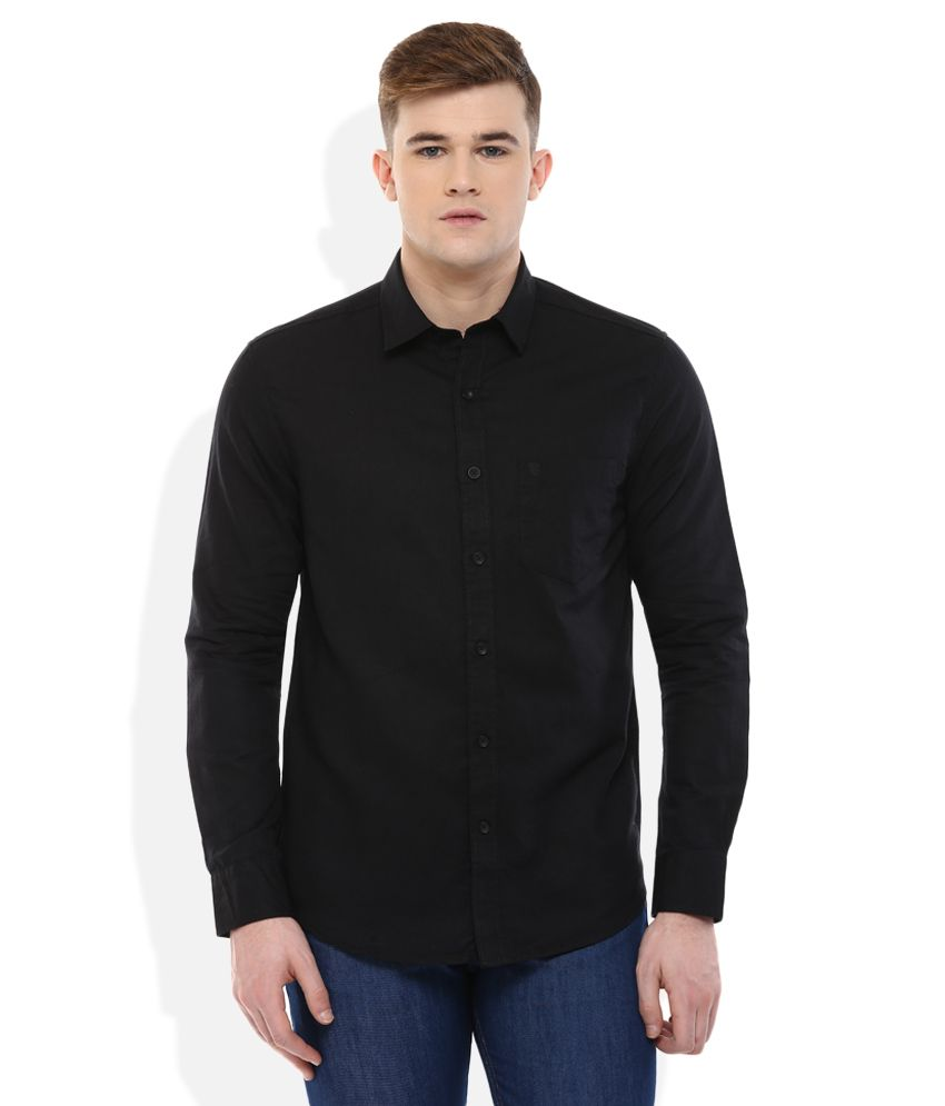Proline Black Regular Fit Shirt