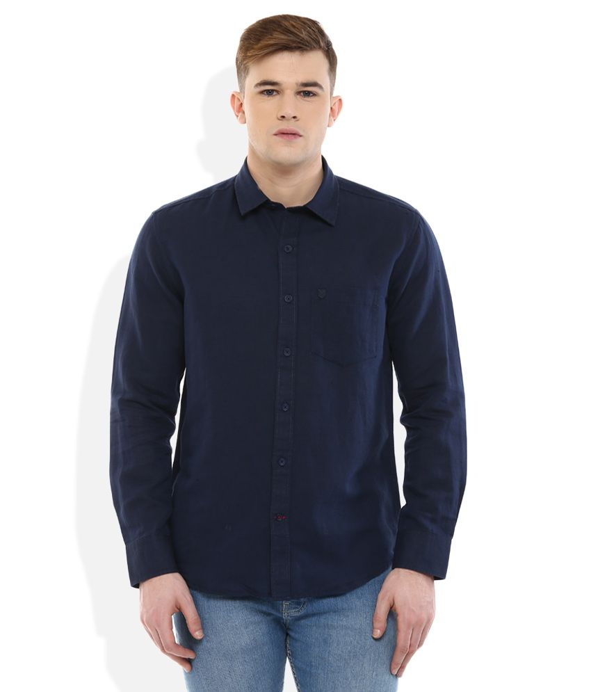 Proline Navy Regular Fit Shirt