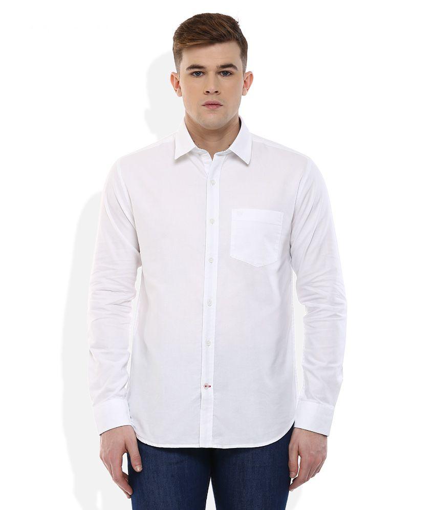 Proline White Regular Fit Shirt