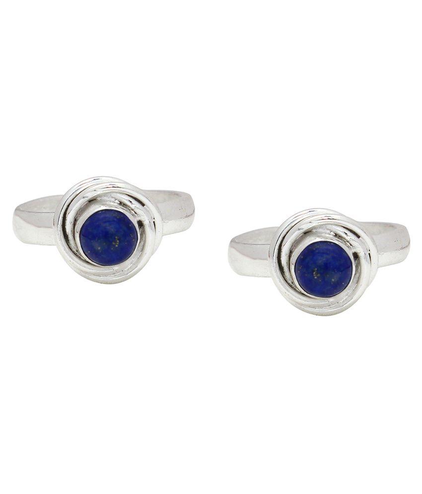 Ranvijay Blue Designer Toe Rings