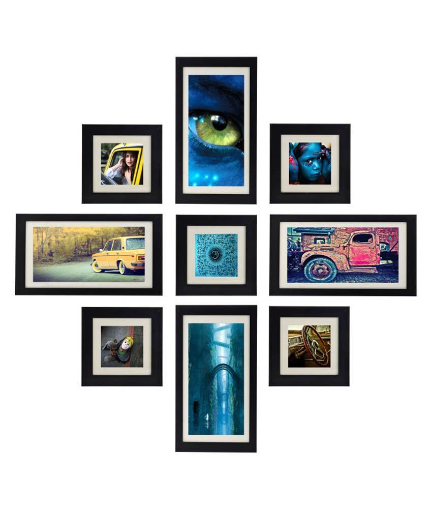 Desi Frames Black MDF Photo Frame - Set of 9: Buy Desi Frames Black ...