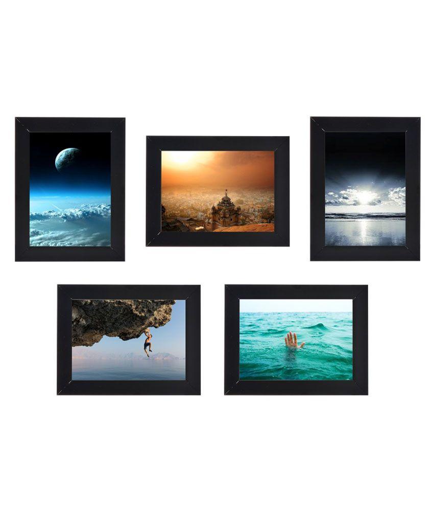 Desi Frames MDF Wall Hanging Black Collage Photo Frame