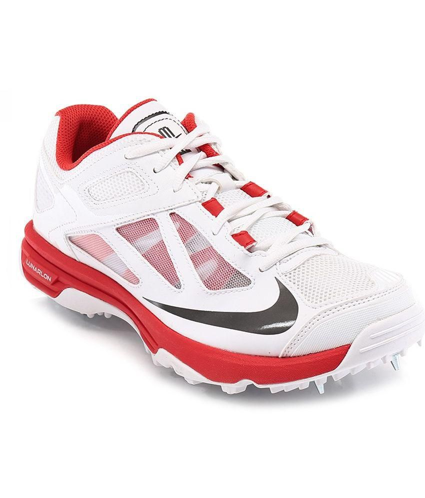 f599c00b31fe Nike White Cricket Shoes - Buy Nike White Cricket Shoes Online at Best  Prices in India on Snapdeal