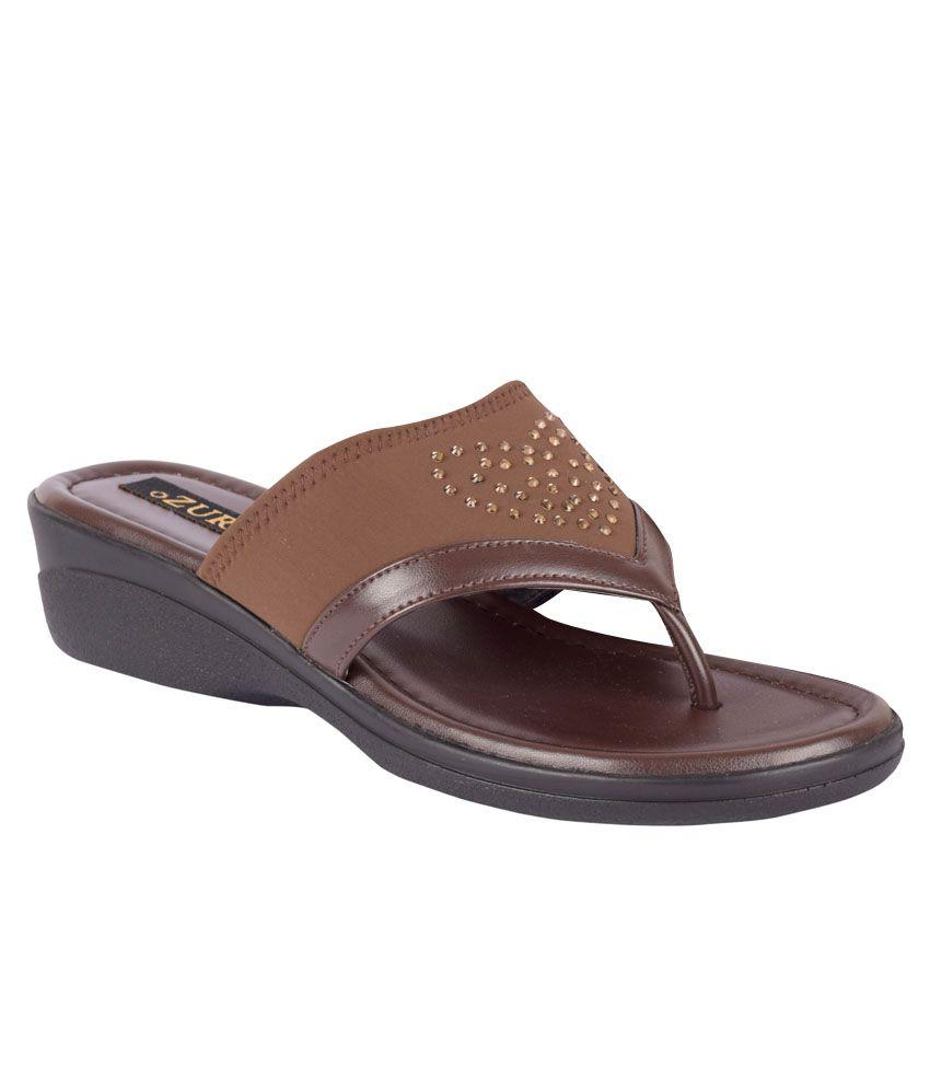 Ozuri Brown Wedges Heels