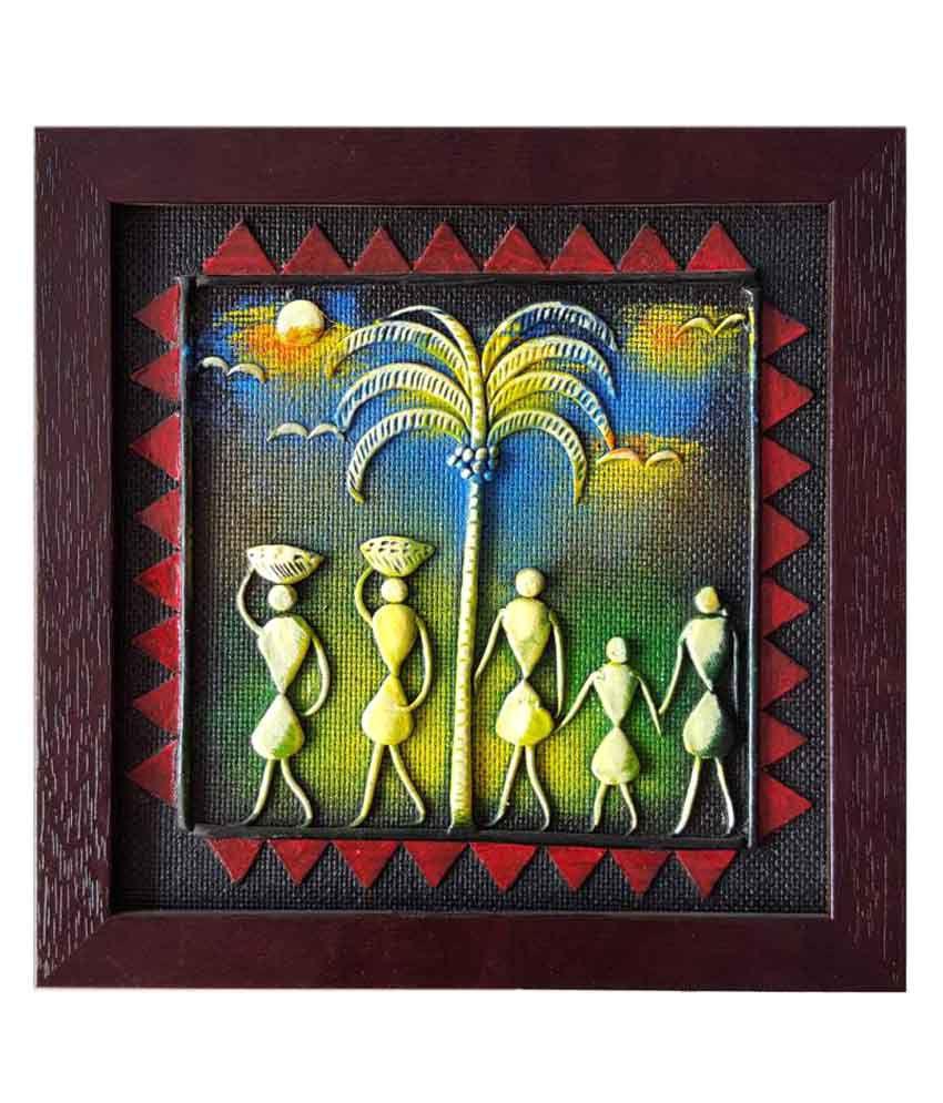 Shilpacharya Handicrafts Paper Tribal Art Wall Decor Buy