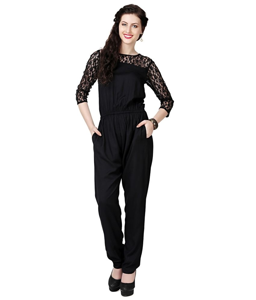 11abff4691d2 The Bebo Black Rayon Jumpsuits - Buy The Bebo Black Rayon Jumpsuits Online  at Best Prices in India on Snapdeal