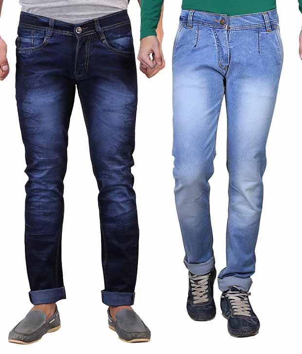 X-cross Blue Slim Fit Jeans Pack Of 2