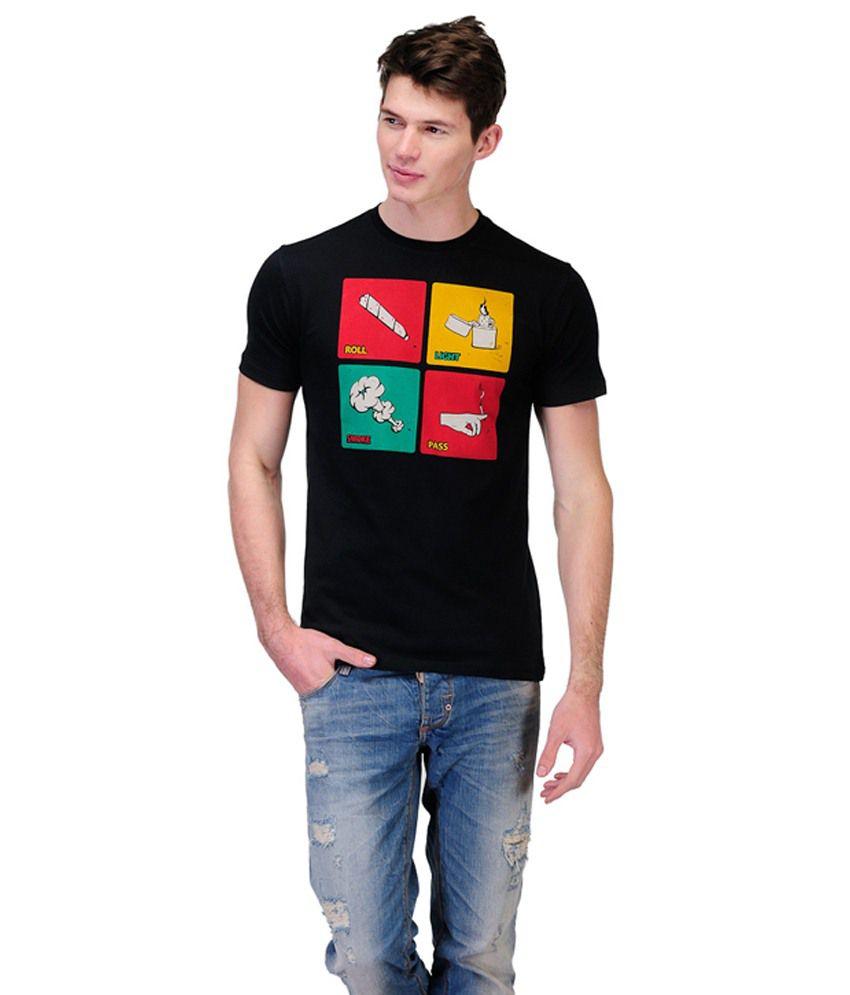 Rootstock Black Round T Shirts