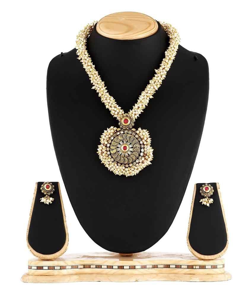 Satyam Jewellery Nx Golden Copper Necklace Set