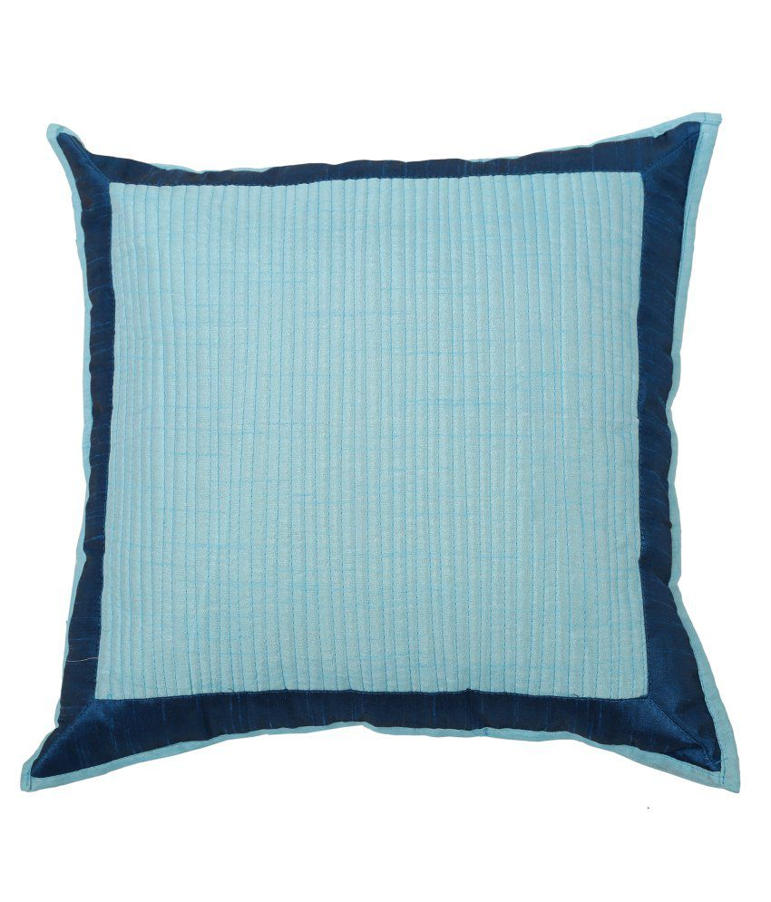 The Home Story Blue Ethnic Silk Cushion Cover