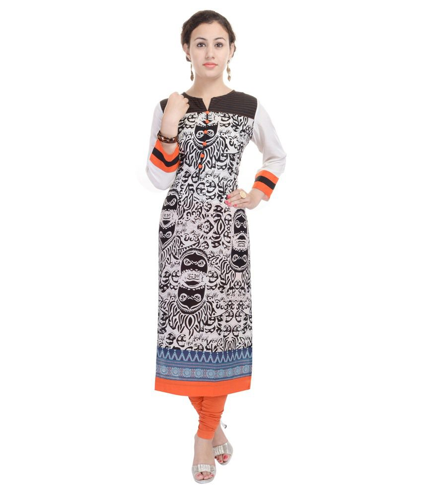 Heritage Jaipur Black Straight Cotton Kurti