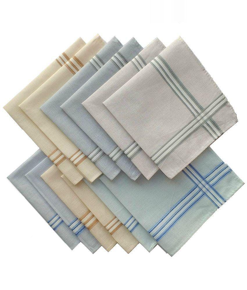Krayonz Multicolour Cotton Handkerchief - 12 Piece