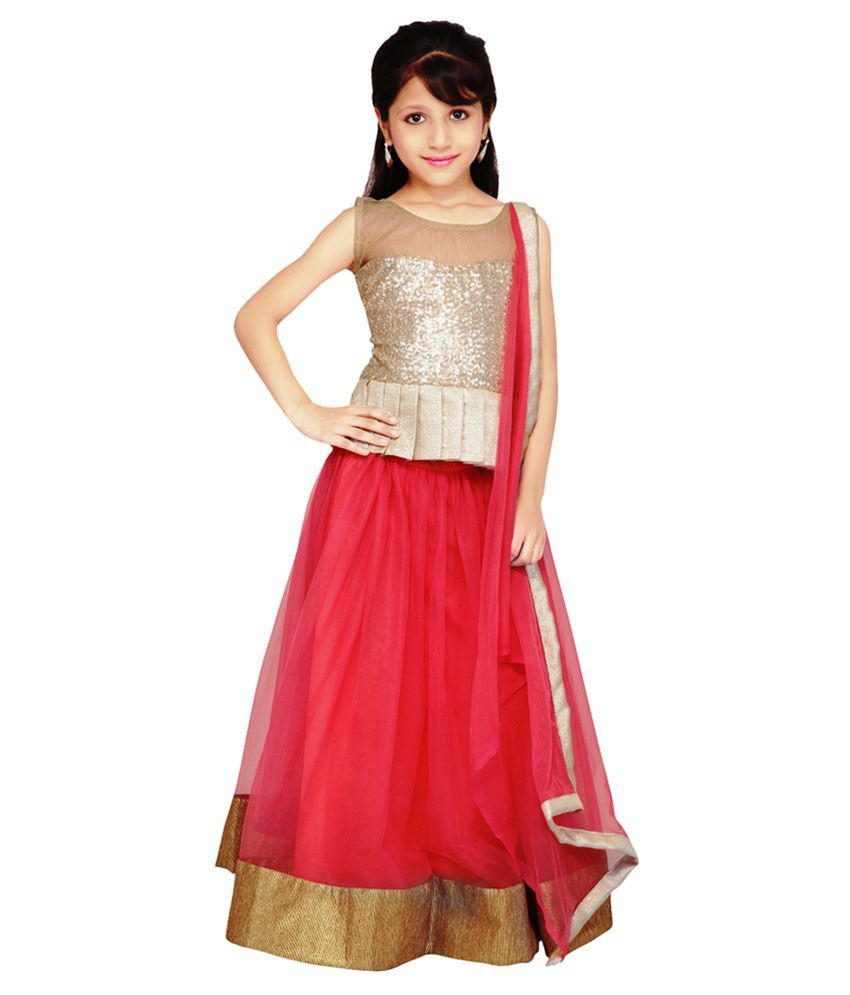 Najara Fashion Pink Net Lehengas