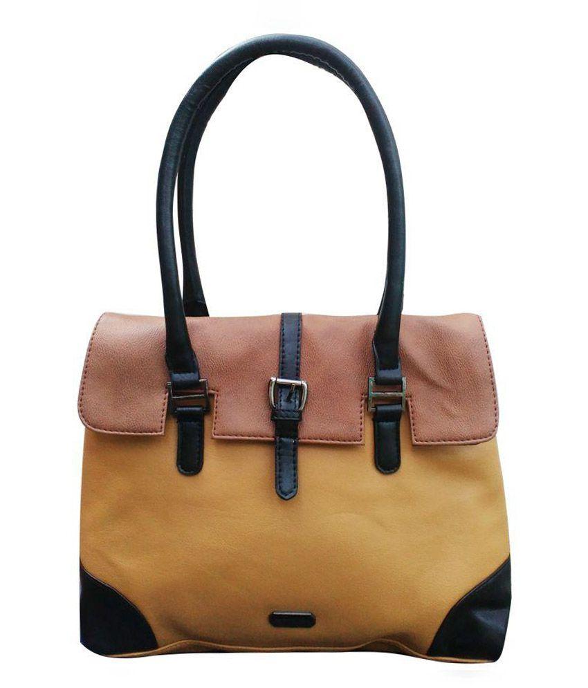 Peperone Yellow P.U. Shoulder Bag