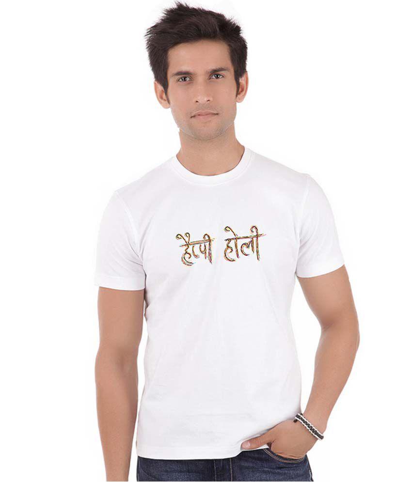 Shopmantra White Round T Shirts