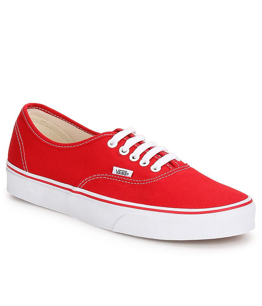 Vans Authentic Red Canvas Casual Shoes - Buy Vans Authentic Red Canvas  Casual Shoes Online at Best Prices in India on Snapdeal 5f87e2640