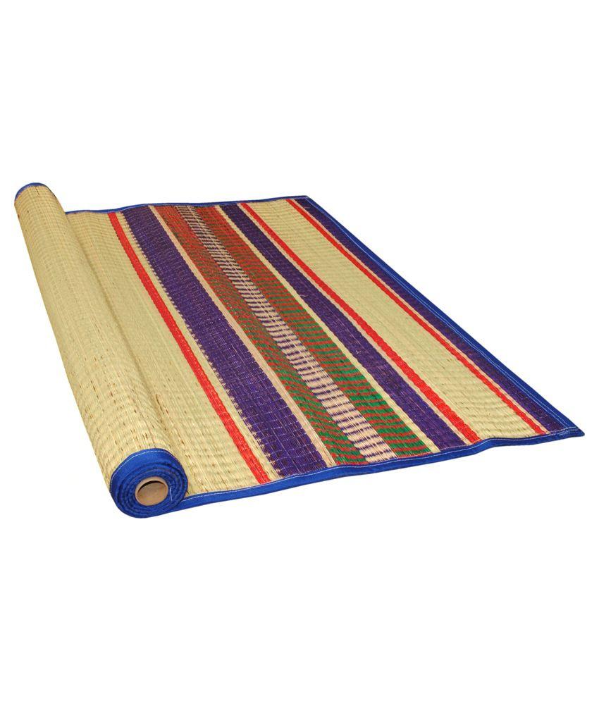 Floor mats to sleep on -  Bismi Mats Multicolor Kora Grass Sleeping Mats 2 Pcs