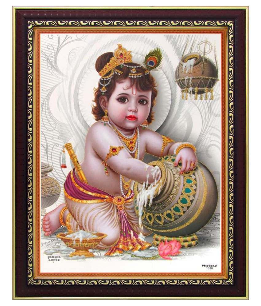 Avercart Multicolour Wooden Lord Krishna / Baby Krishna
