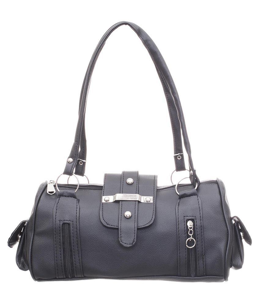 Noble Designs Black P.U. Shoulder Bag