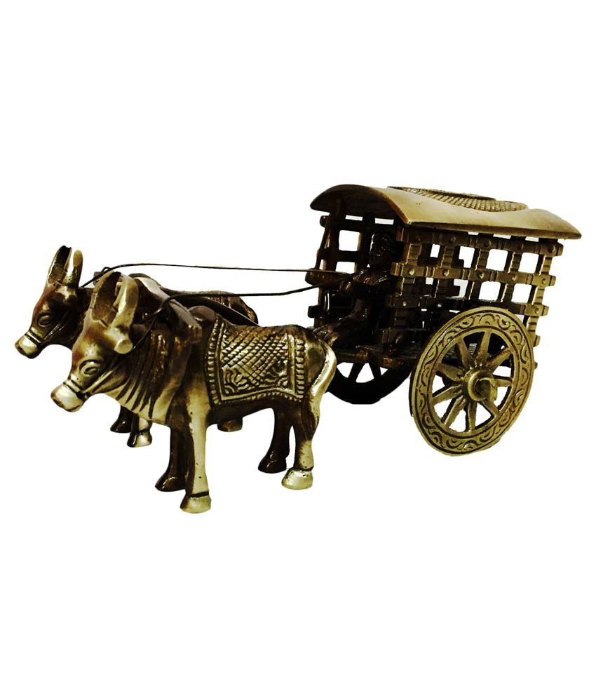 Brass Collection Glossy Bullock Cart