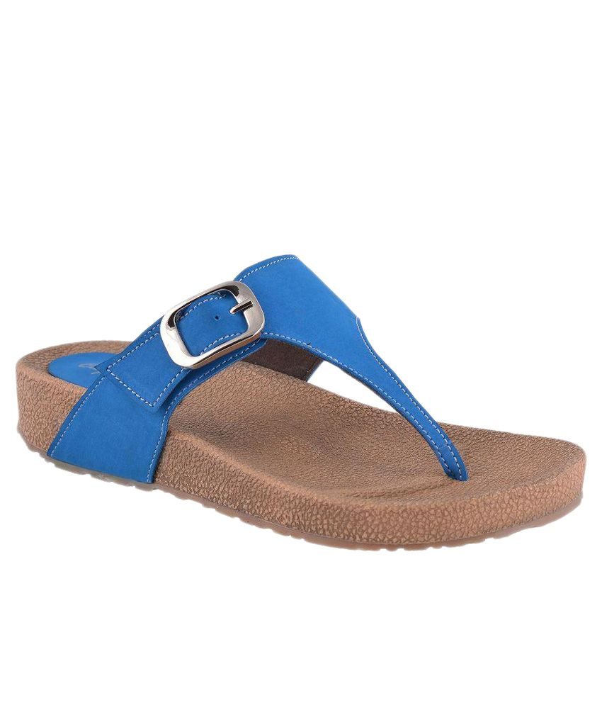 Citywalk Blue Flat Slip-ons