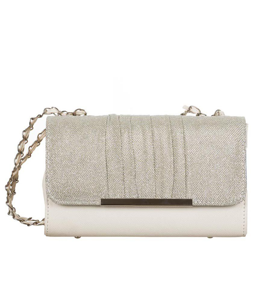Coversncases White PU Sling Bag