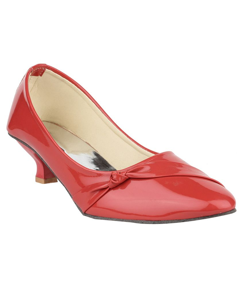 DJH Red Kitten Heels