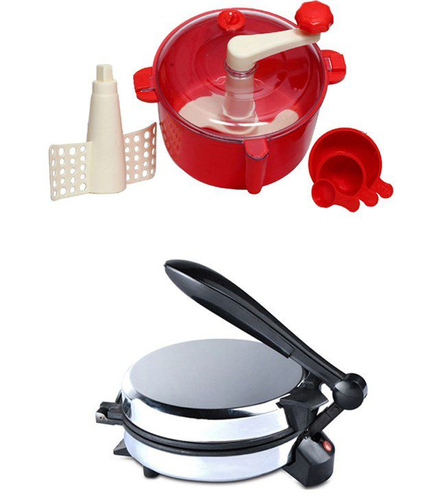 GTC Combo Of Detachable Roti Maker With Red Dough Maker