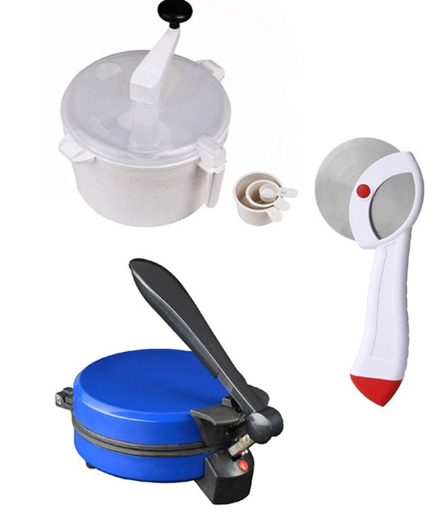 GTC Combo Of National Blue Detachable Rotimaker, Dough Maker And Pizza Cutter