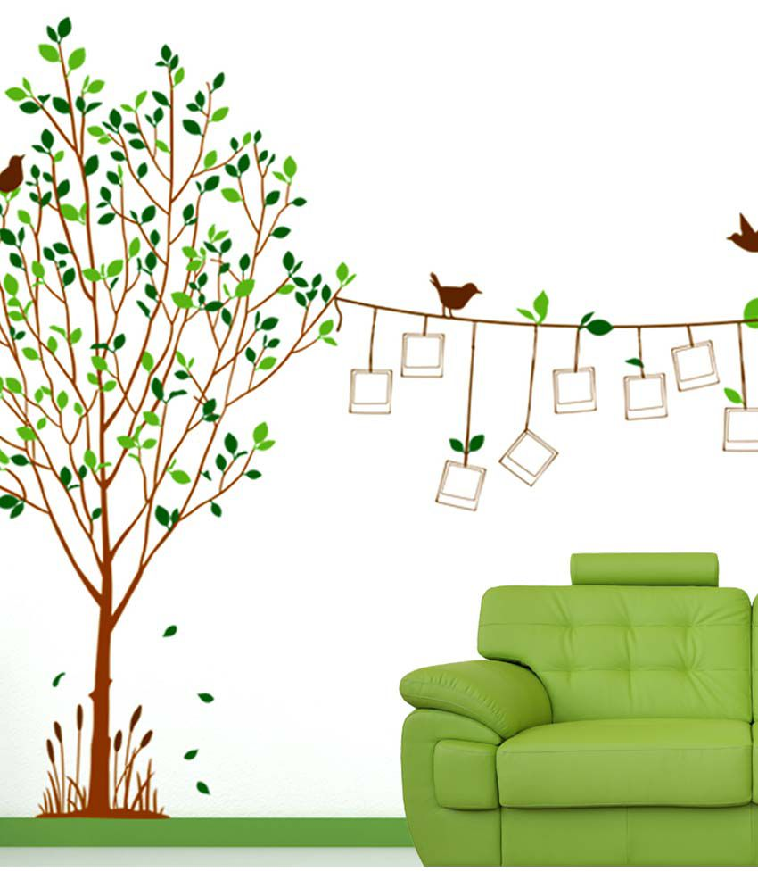 Stickerskart Multicolor Family Tree Living Room Decal With