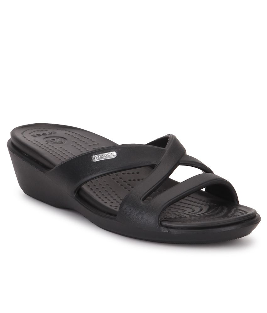 bd9aa8e75 Crocs Black Heeled Slip-on   Pump Relaxed Fit Price in India- Buy Crocs  Black Heeled Slip-on   Pump Relaxed Fit Online at Snapdeal