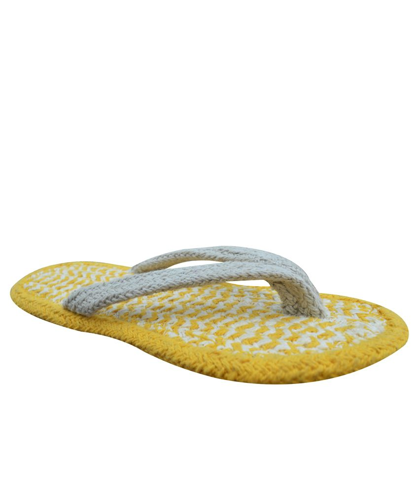 Homework Furnishings Yellow  Flip Flops Pack Of 2