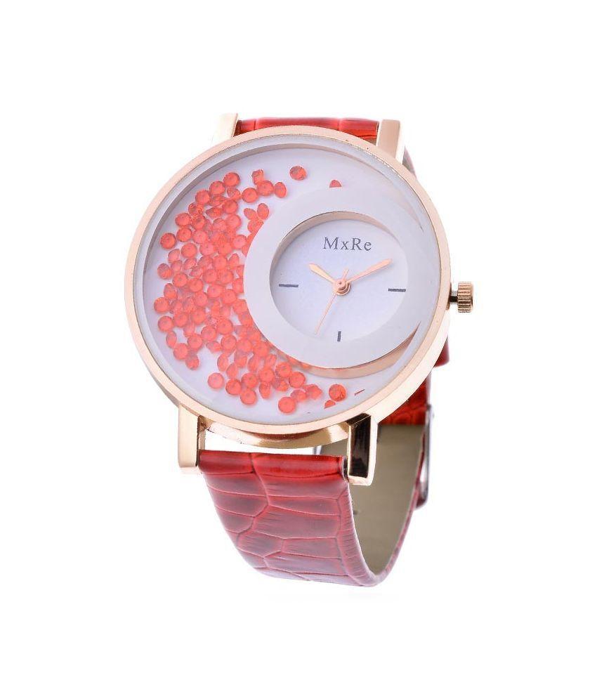 JM Pink Analog Watch