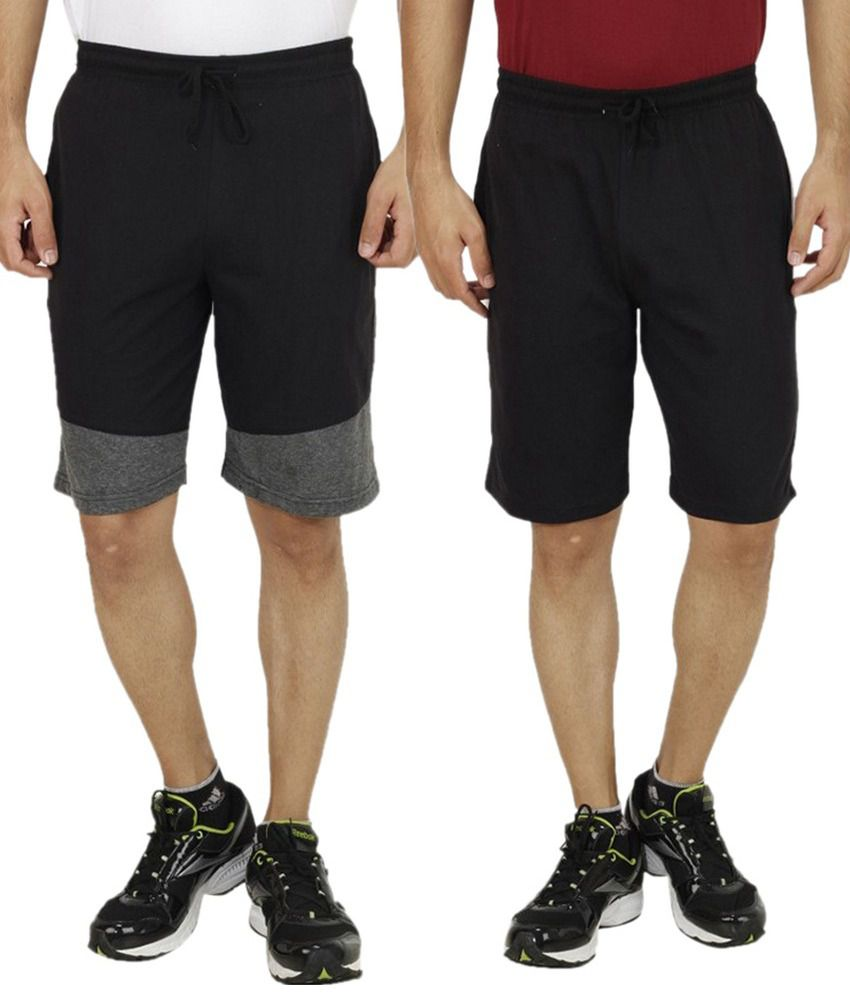 Christy world Black Shorts With Shorts
